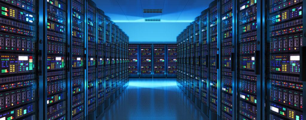 Inside of a data center