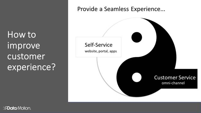 Ying yang symbol to display how to provide a seamless experience for customers