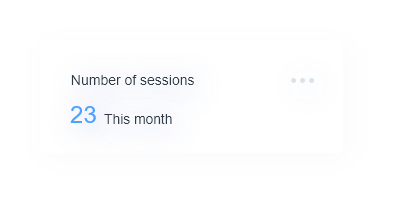 Number of sessions this month - 23