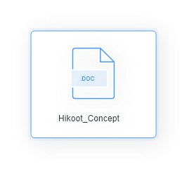 Hikoot_Concept document logo