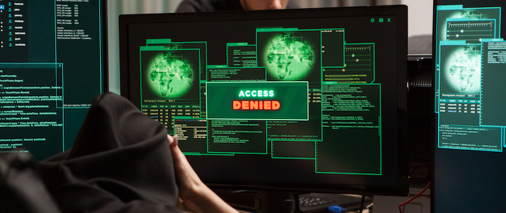 Screens showing systems protected after a hacker's ransomware attack is denied